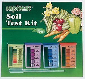 Typical soil testing kit