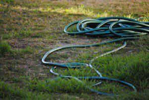 kinked garden hose